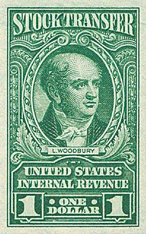 1940 $1 Stock Transfer Stamp, bright green