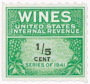 1942 1/5c grn,blk,roul 7,dl wmk,offset