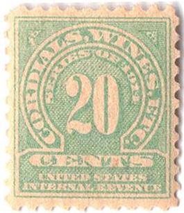 1914 20c grn,sl wmk, offset, perf 10