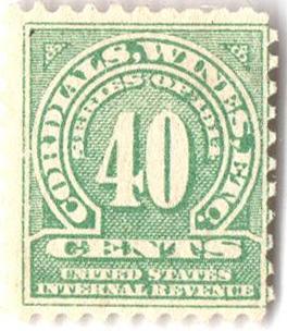 1914 40c grn,sl wmk, offset, perf 10