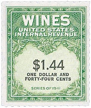 1942 $1.44 yel grn, blk, engraved