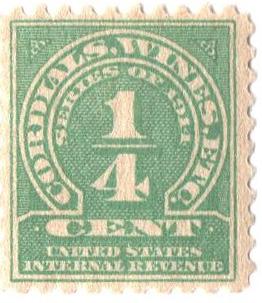 1914 1/4c grn,dl wmk, perf 10