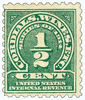 1914 1/2c grn, dl wmk, perf 10