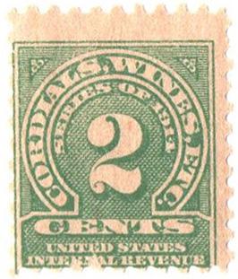 1914 2c grn, dl wmk, perf 10