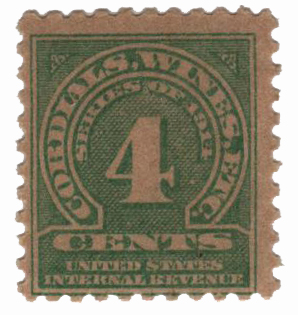 1914 4c grn, dl wmk, perf 10