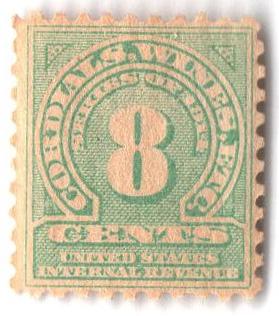 1914 8c grn, dl wmk, perf 10