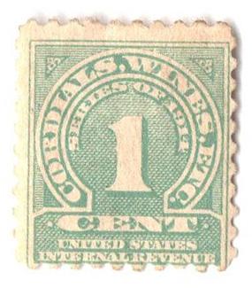 1914 1c grn,sl wmk, offset, perf 10