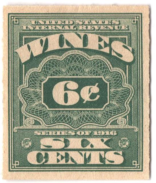 1916 6c grn,roul 31/2, dl wmk, offset