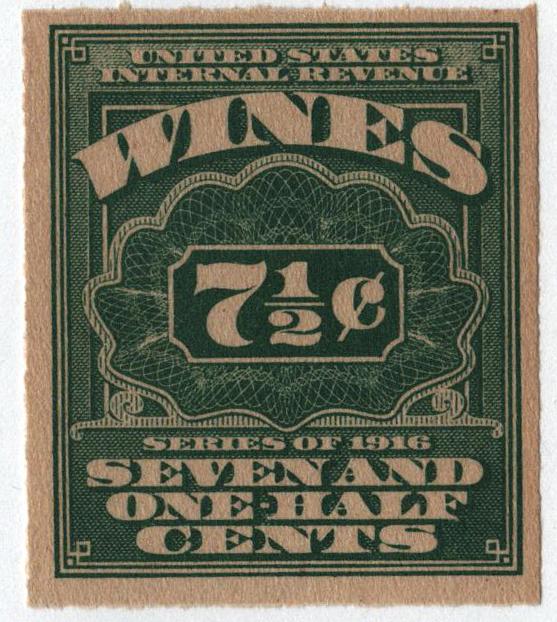 1916 71/2c grn,roul 31/2,dl wmk,offset
