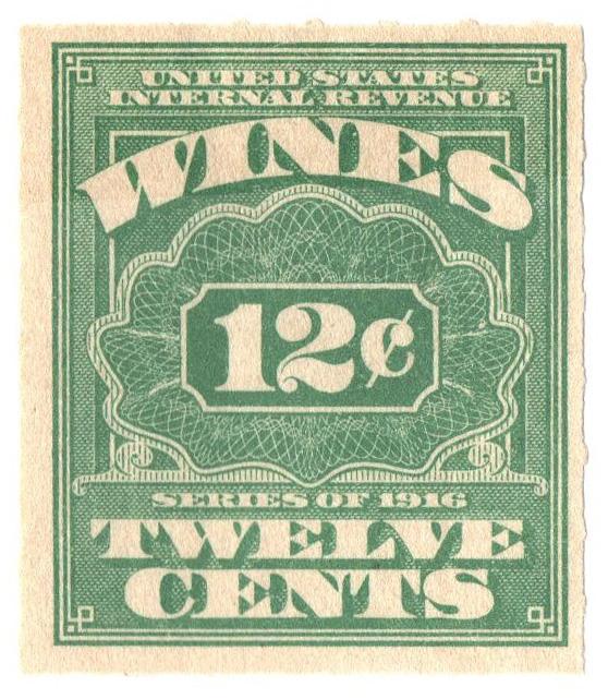 1916 12c grn,roul 31/2,dl wmk, offset