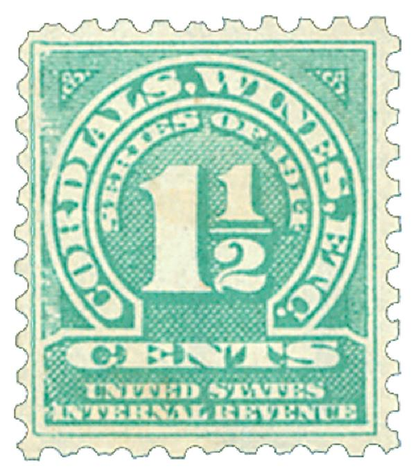 1914 11/2c grn,sl wmk,offset,perf 10