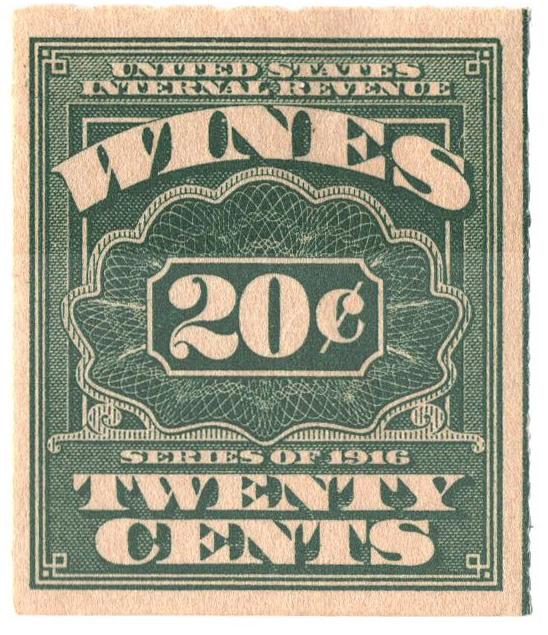 1916 20c grn,roul 31/2,dl wmk, offset