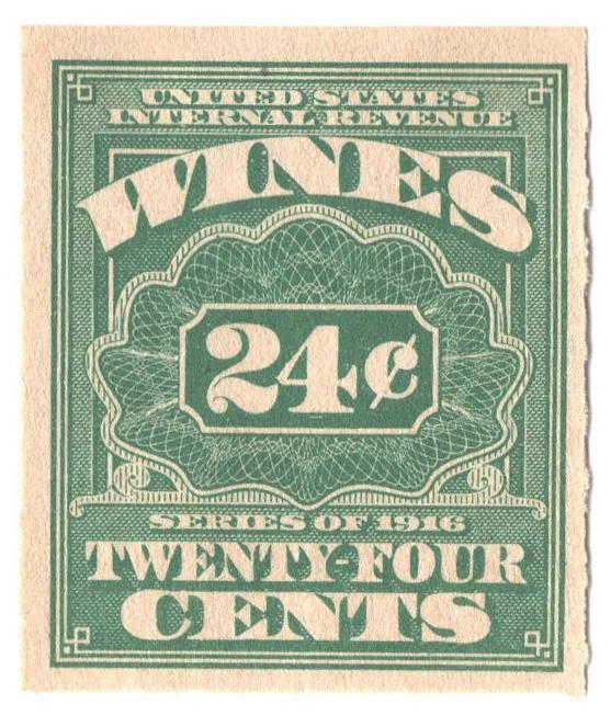 1916 24c grn,roul 31/2,dl wmk, offset
