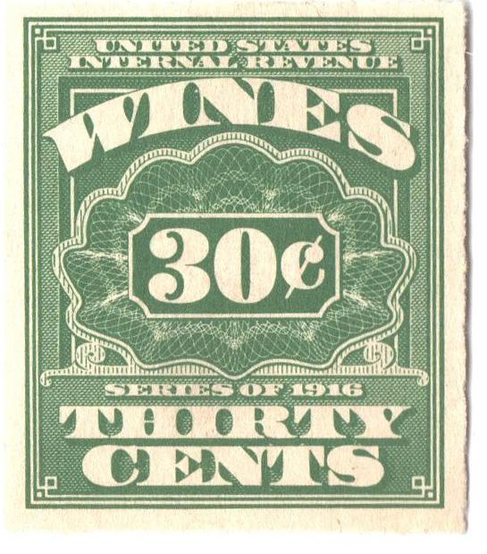 1916 30c grn,roul 31/2,dl wmk, offset