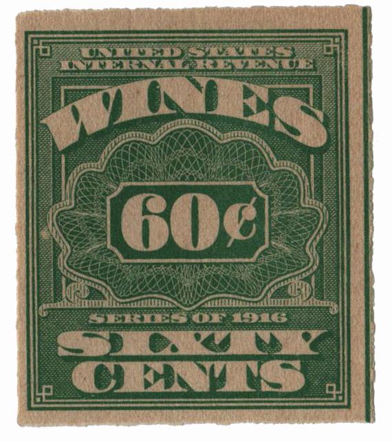 1916 60c grn,roul 31/2,dl wmk, offset