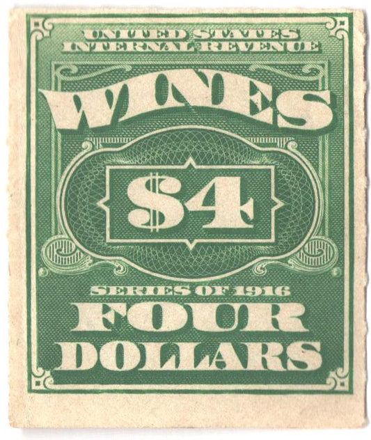 1916 $4 grn, engraved