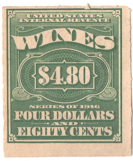 1916 $4.80 grn, engraved