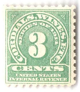 1914 3c grn,sl wmk, offset, perf 10