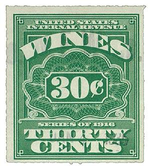 1933 30c lt grn,roul 7,dl wmk, offset