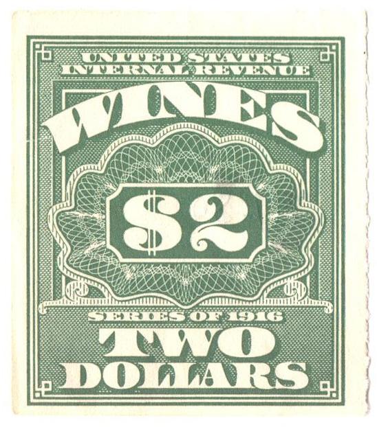 1933 $2 lt grn,roul 7, dl wmk, offset