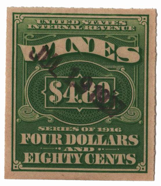 1933 $4.80 lt grn, engraved