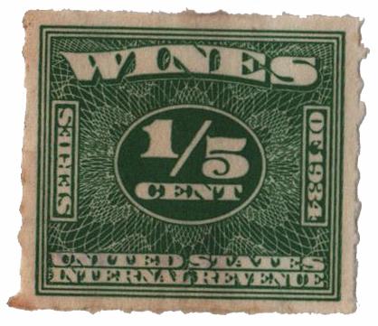 1940 1/5c grn,roul 7,dl wmk, offset
