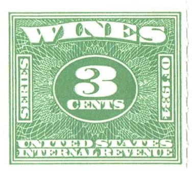 1934-40 3c grn, roul 7,dl wmk, offset