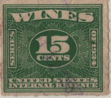 1934-40 15c grn, roul 7,dl wmk,offset