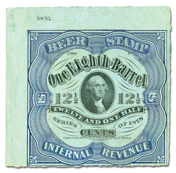1878 12 1/2c  blue, green paper