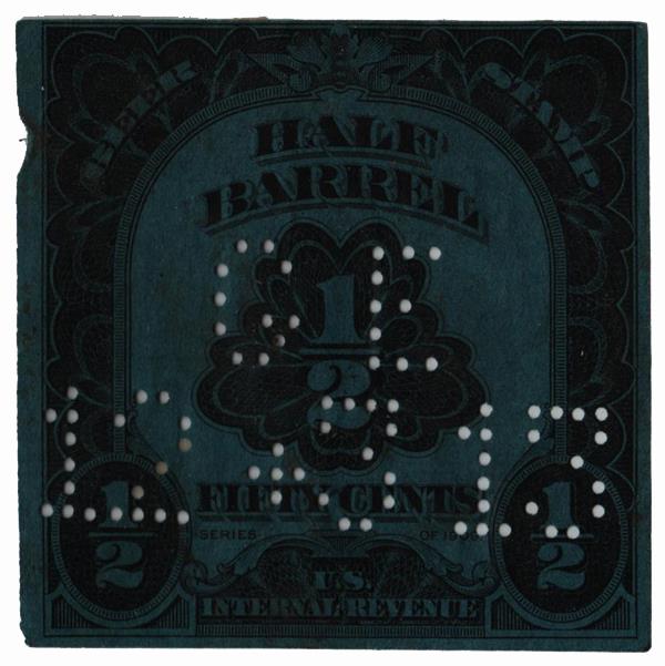 1909-11 50c Beer Tax Stamp - black, engraved., watermarked