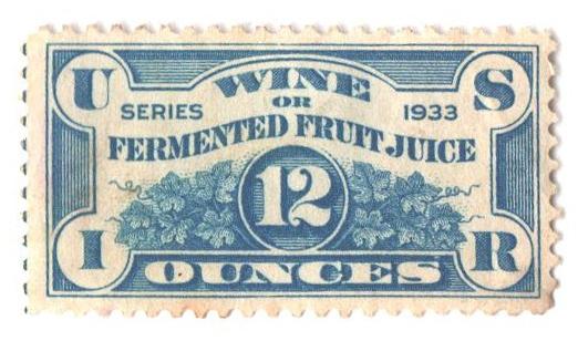 1933 12oz Fermented Fruit Juice Stamp - light blue
