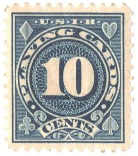 1927 10c blue,flat, perf 11