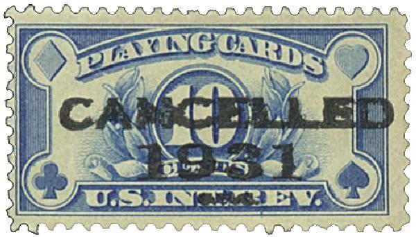 1931 10c bl, flat, perf 11