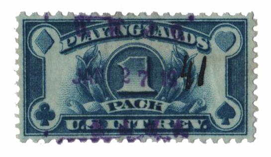 1940 blue,rotary, perf 10x11