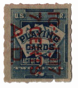 1917 7c on 2c bl,surcharge reads down