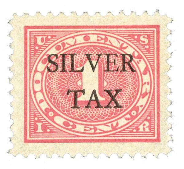 1934 1c Silver Tax, carmine rose, perf 11
