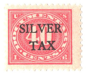 1934 40c Silver Tax, carmine rose, perf 11