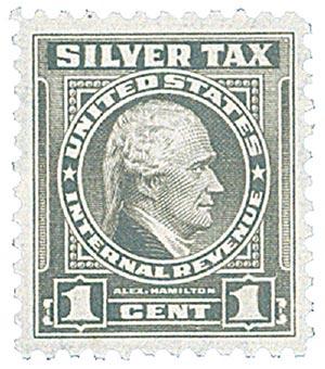 1944 1c Silver Tax, gray