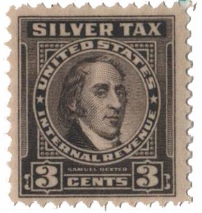 1944 3c Silver Tax, gray