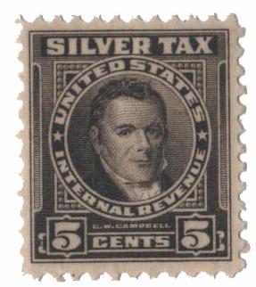 1944 5c Silver Tax, gray