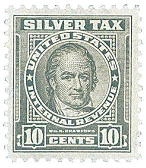 1944 10c Silver Tax, gray