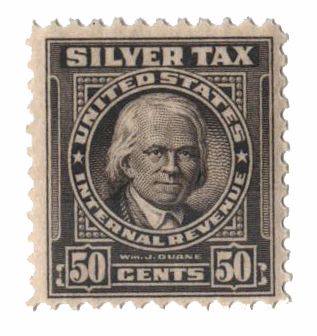 1944 50c Silver Tax, gray
