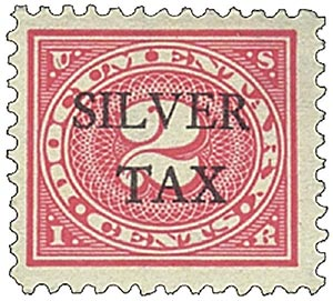 1940 2c Silver Tax, rose pink, perf 11