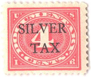1934 4c Silver Tax, carmine rose, perf 11