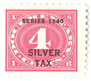1940 4c Silver Tax, rose pink, perf 11