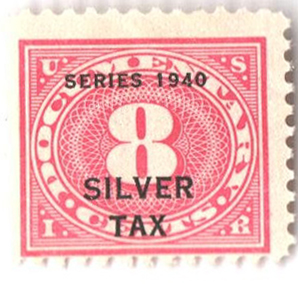 1940 8c Silver Tax, rose pink, perf 11