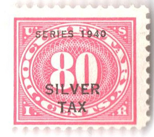 1940 80c Silver Tax, rose pink, perf 11