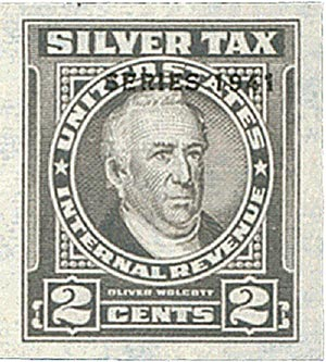 1941 2c Silver Tax, gray, overprint '1941'