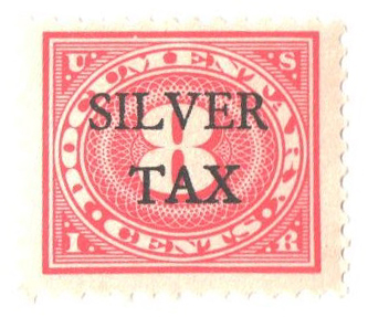 1934 8c Silver Tax, carmine rose, perf 11