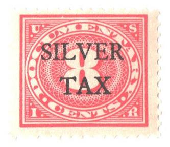 1934 8c Silver Tax, carmine rose, perf 11